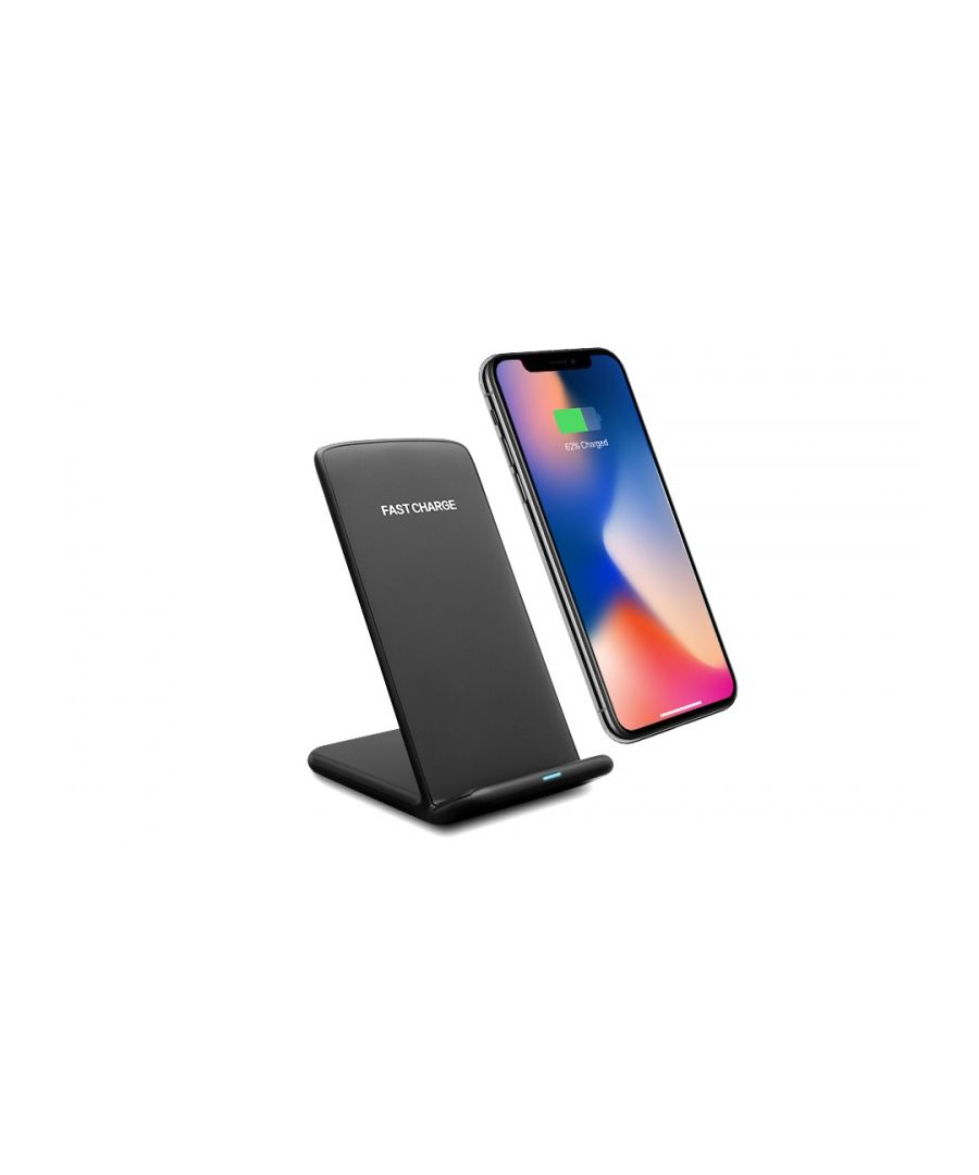 Image for Aquarius Wireless Desktop Charging Stand with LED Indicator Black