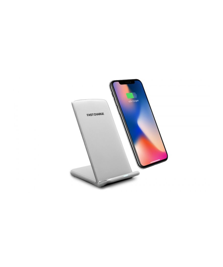 Image for Aquarius Wireless Desktop Charging Stand with LED Indicator Silver