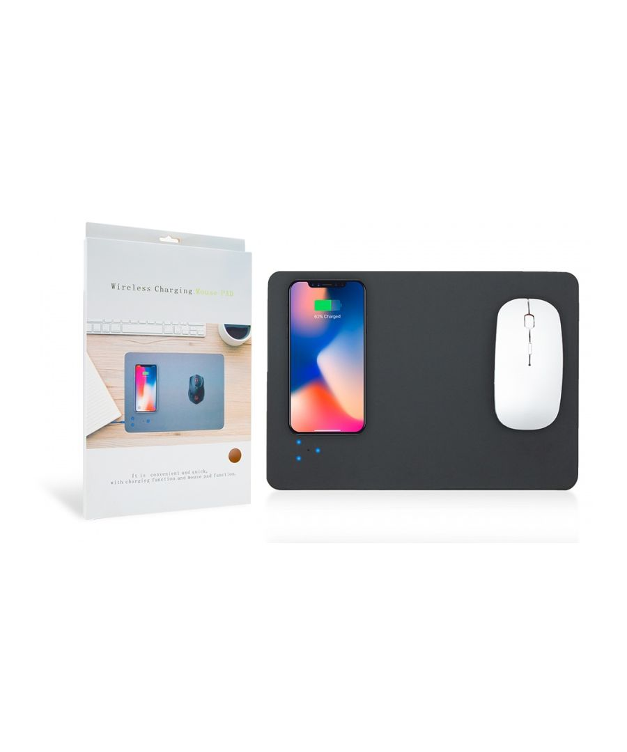 Image for Wireless Charging Mouse Mat- Black