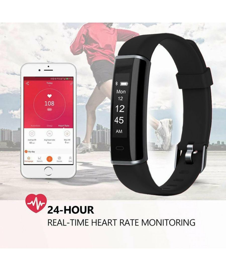 Image for Aquarius AQ113 Fitness Tracker With Heart Rate Monitor Black