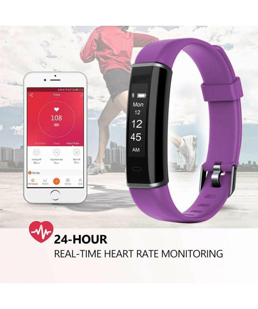 Image for Aquarius AQ113 Fitness Tracker With Heart Rate Monitor Purple