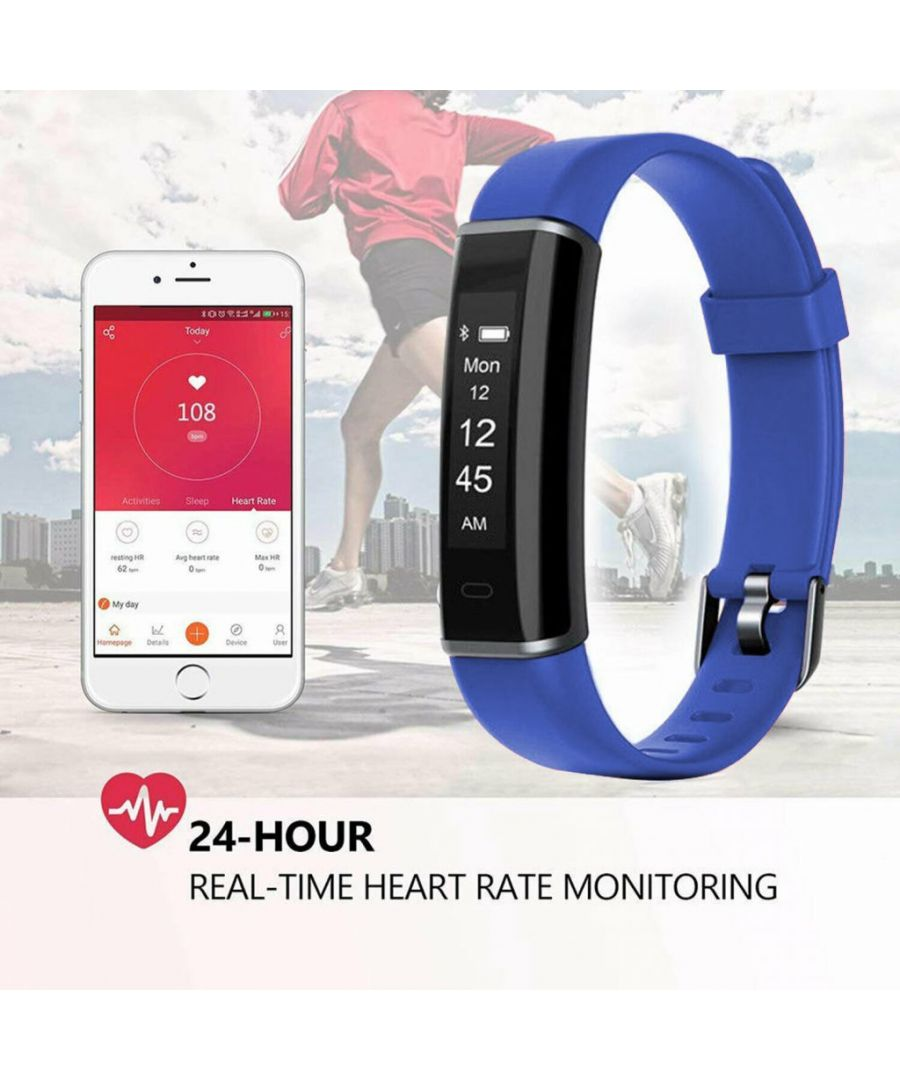 Image for Aquarius AQ113 Fitness Tracker With Heart Rate Monitor Blue