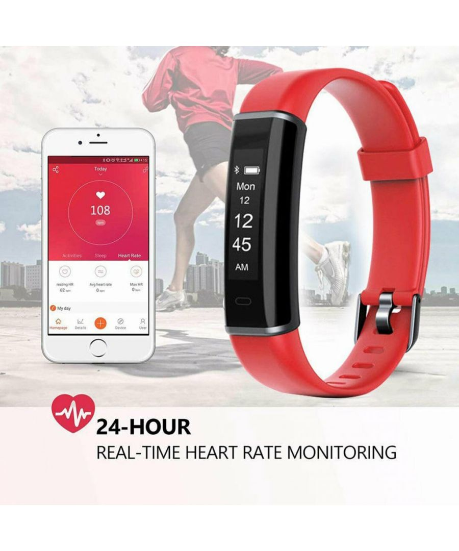 Image for Aquarius AQ113 Fitness Tracker With Heart Rate Monitor Red