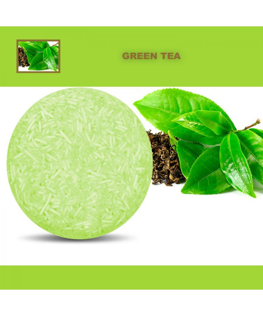 Image for Plant Essence Oil Shampoo & Conditioner Organic Handmade Soap Bar - Green Tea
