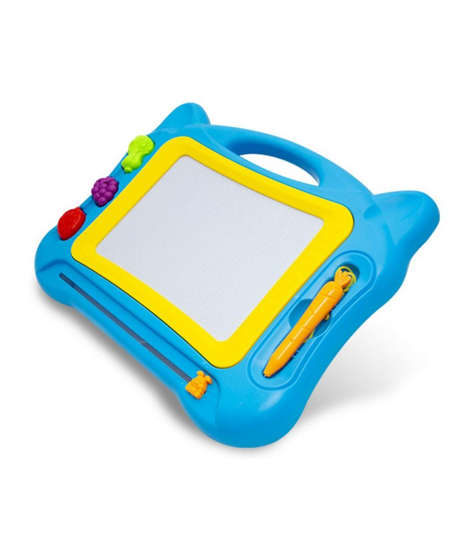 Image for Doodle Magnetic Erasable Drawing Board For Kids Blue Large 30 x 22