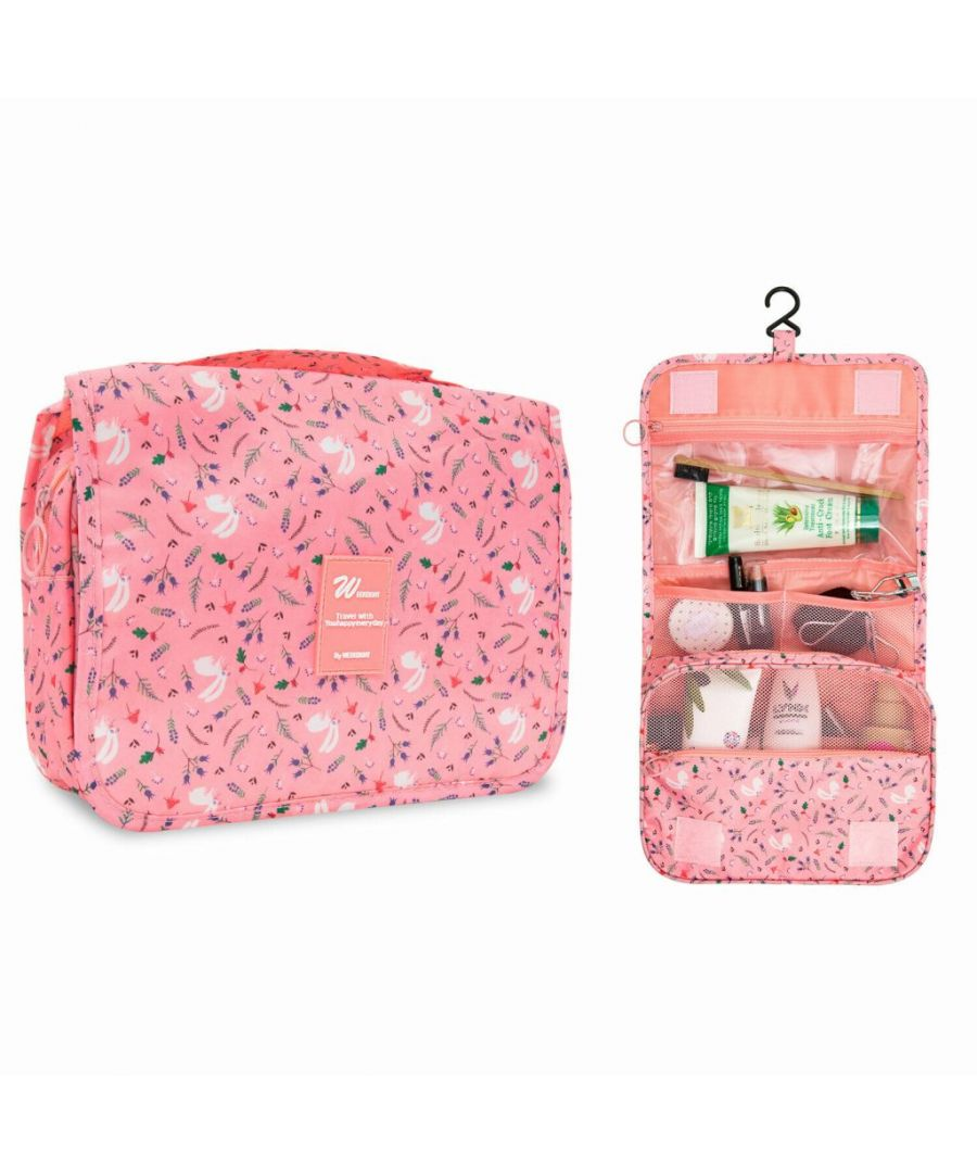Image for Flo Fashion Hanging Travel Toiletry Bag Pink
