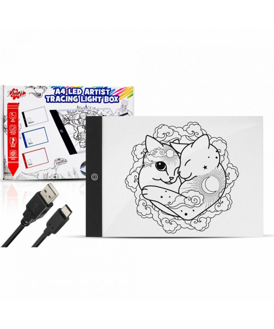 Image for Doodle A4 LED Art Light Box With Brightness Black