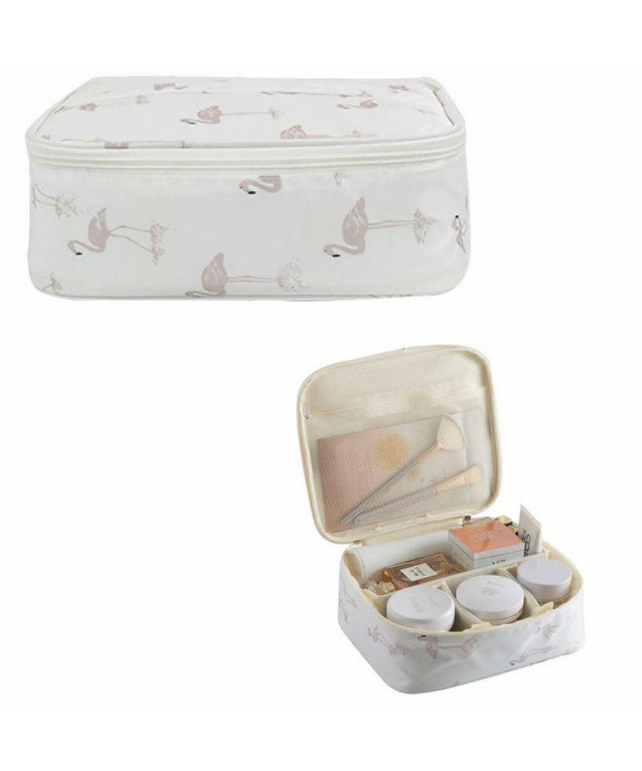 Image for Flo Fashion Travel Organiser Bag White Flamingo