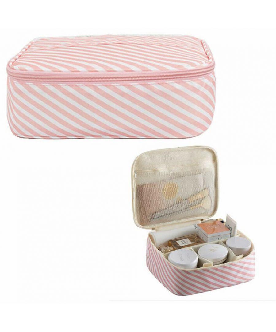 Image for Flo Fashion Travel Organiser Bag Pink Stripes