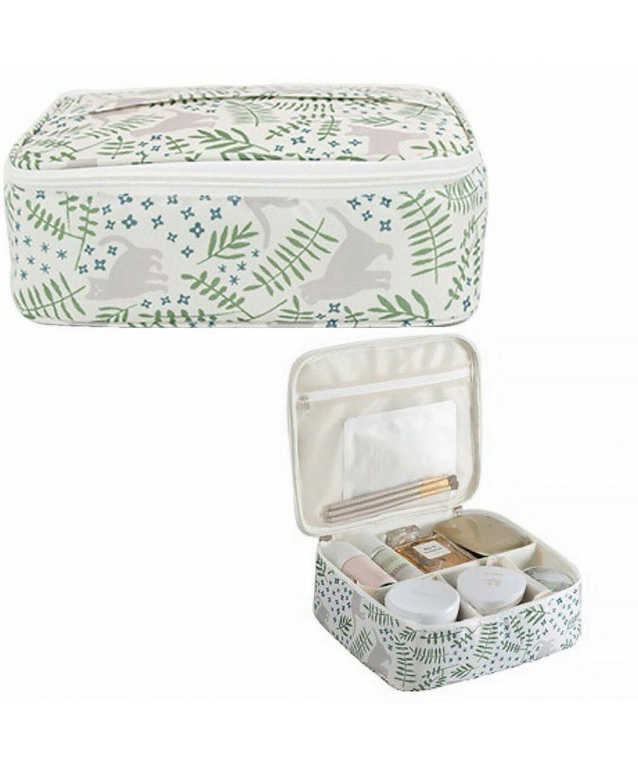 Image for Flo Fashion Travel Organiser Bag Green Leaves
