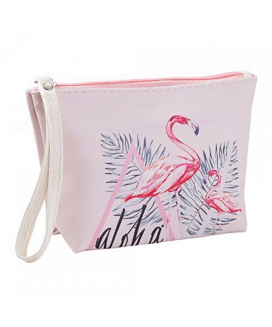 Image for Flo Fashion Waterproof Travel Bag Flamingo Pink
