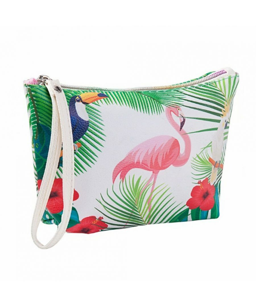 Image for Flo Fashion Waterproof Travel Bag Flamingo Multicoloured