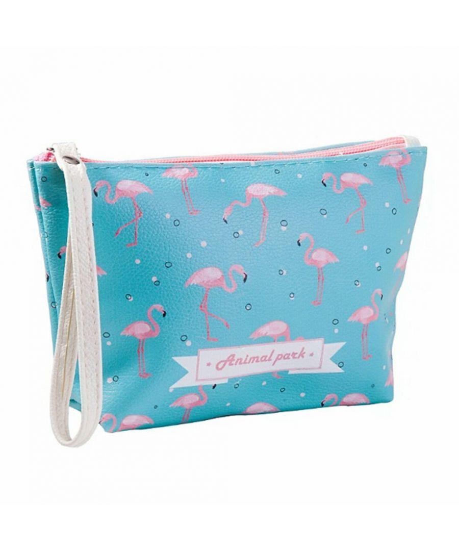 Image for Flo Fashion Waterproof Travel Bag Flamingo Blue