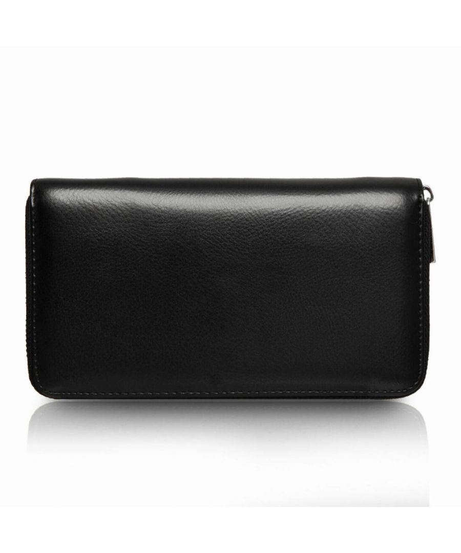 Image for Flo Fashion Leather Travel Wallet with RFID Black