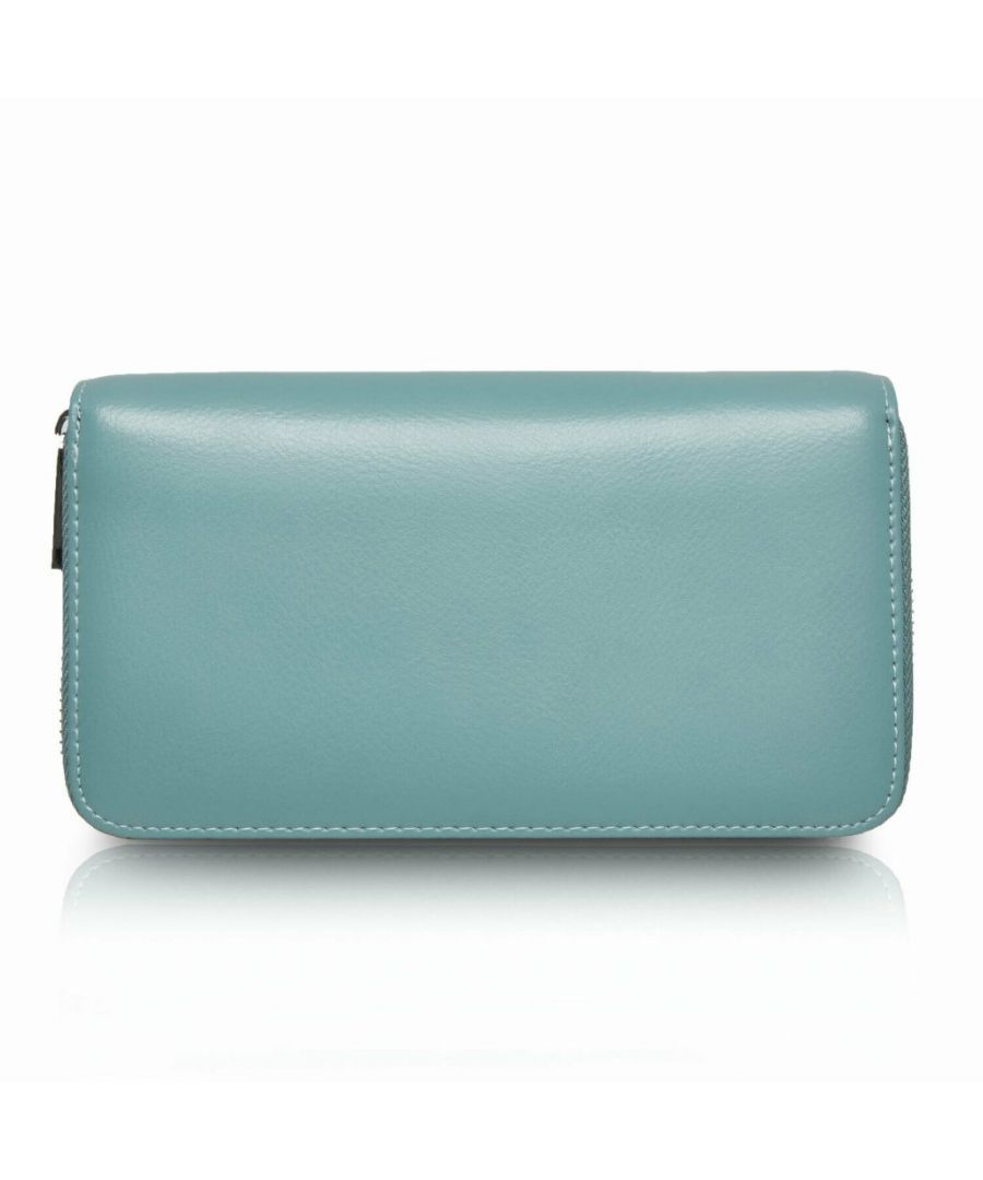 Image for Flo Fashion Leather Travel Wallet with RFID Light Blue