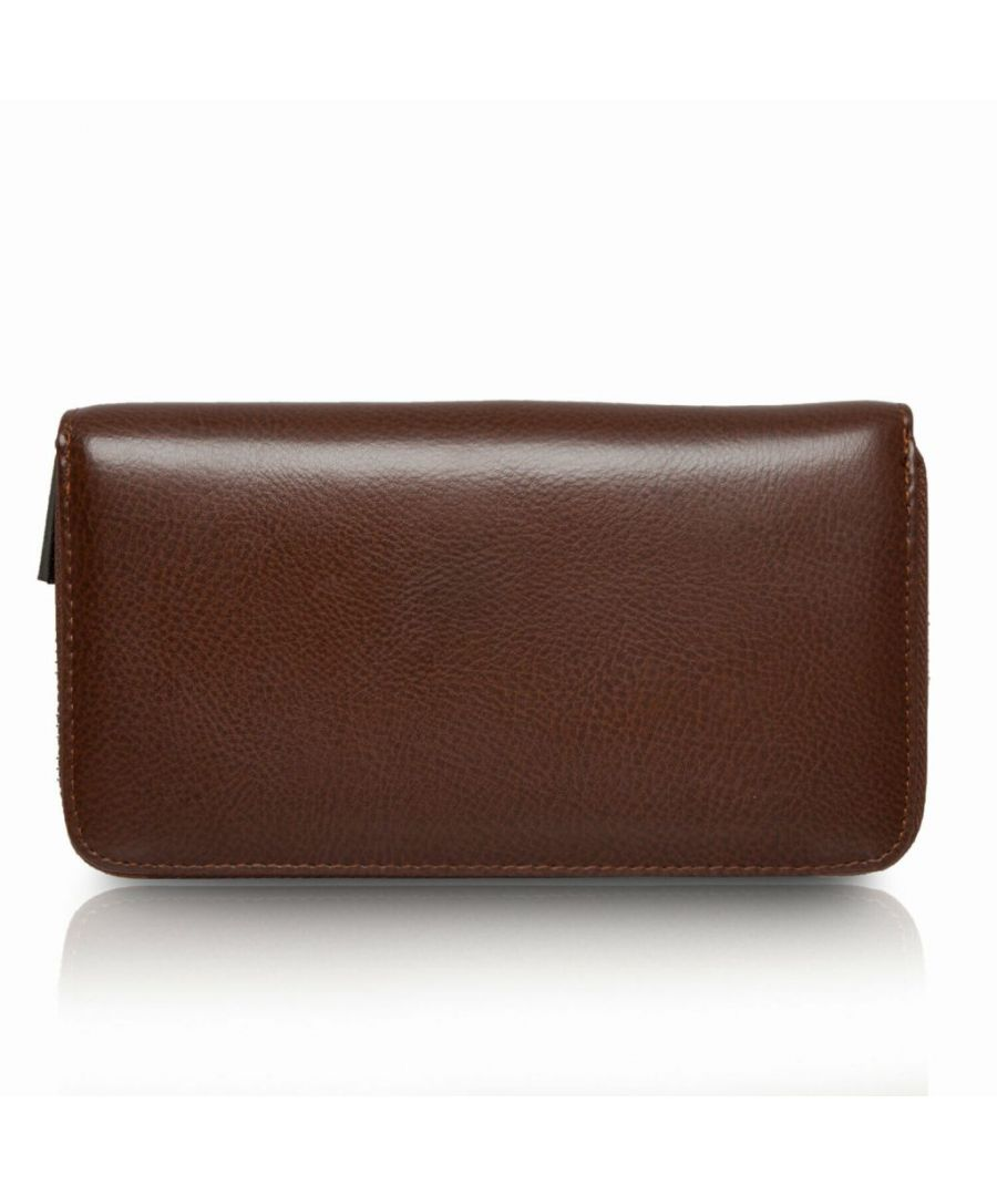Image for Flo Fashion Leather Travel Wallet with RFID Coffee