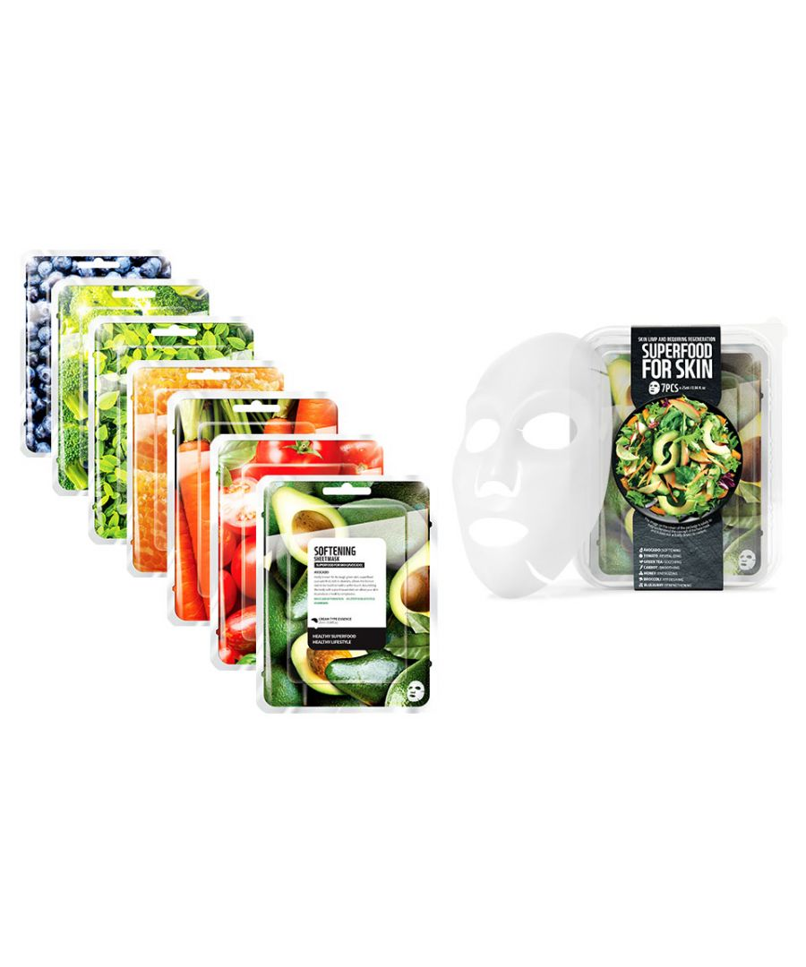 Image for Envie Korean Superfood Vegan Face Mask Set for Energising your Skin - Pack of 7