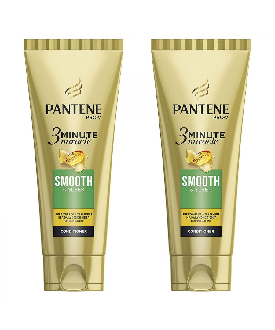 Image for Pantene 3 Min Miracle Smooth & Sleek Conditioner 2 x 200ml