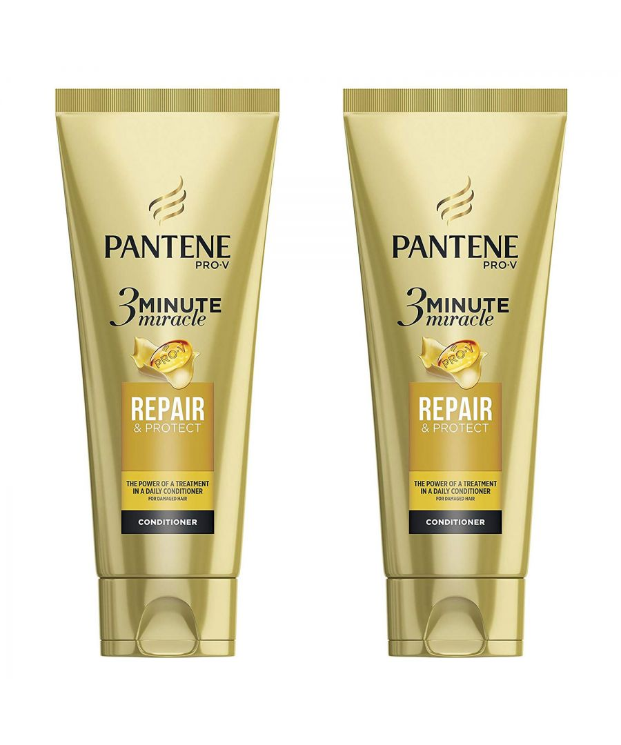 Image for Pantene 3 Min Miracle Repair & Protect Conditioner 2 x 200ml