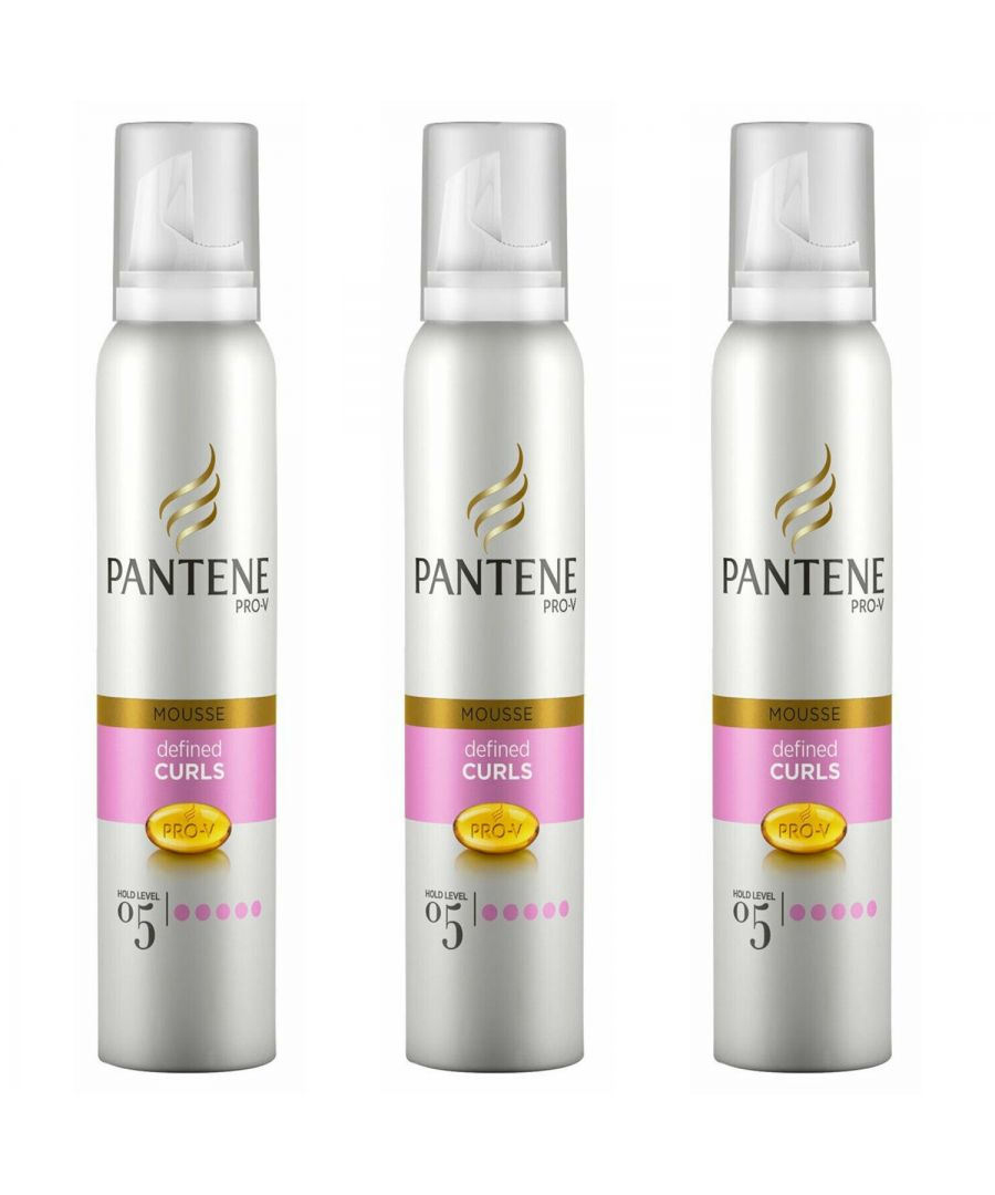 Image for Pantene Mousse Curl Defining 3 x 200ml