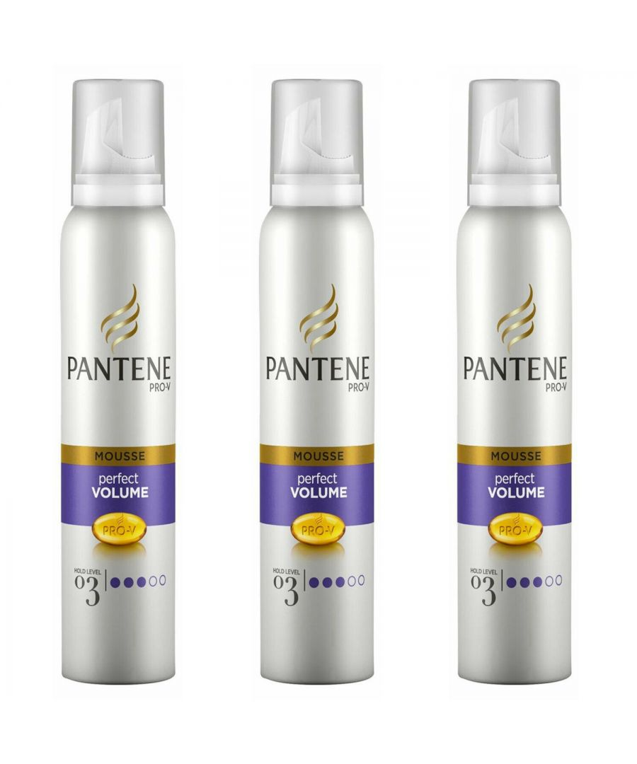 Image for Pantene Mousse Volume & Body 3 x 200ml