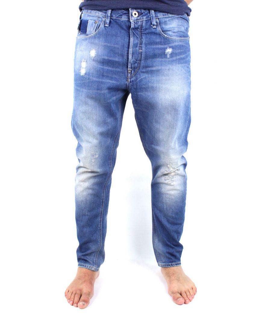 Image for G-Star Type C 3D Loose Medium Aged Destroy Scatter Denim Jeans