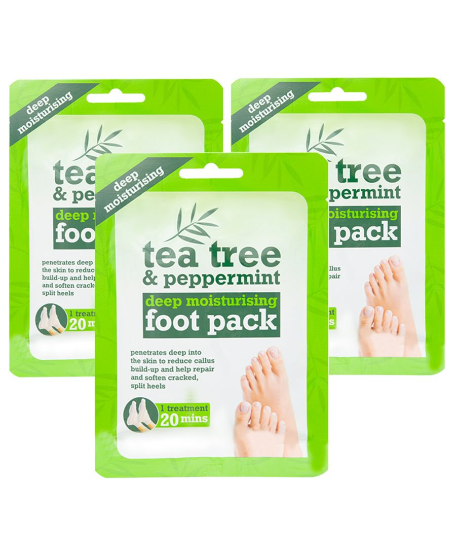 Image for Tea Tree & Peppermint Deep Moisturising Foot Pack x3 Treatments