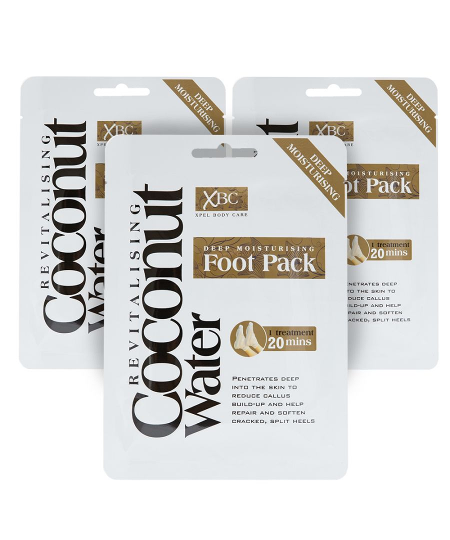 Image for Coconut Water Deep Moisturising Foot Pack x3 Treatments