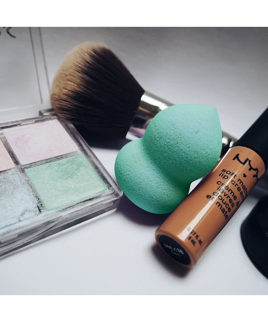 Image for Make-Up Blending, Highlighting & Contouring Sponge FlatBottom - AQUA
