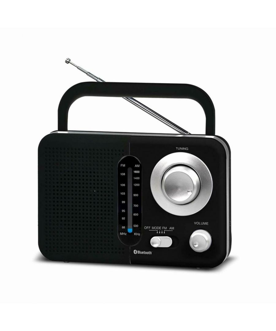 Image for Soundz SZ412 AM/FM Portable Bluetooth Radio With USB Port And SD Card Slot Black