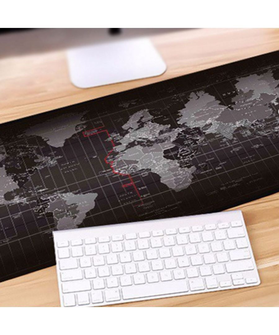 Image for Aquarius Durable Extended World Map Mousepad - Black