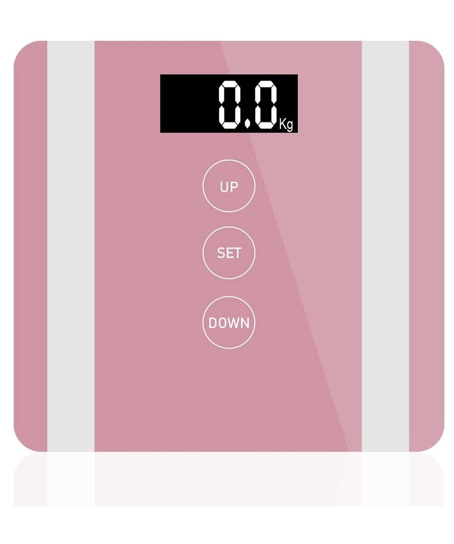 Image for 7 in 1 Apple Colour Body Fat Analyser Scale Rose Gold