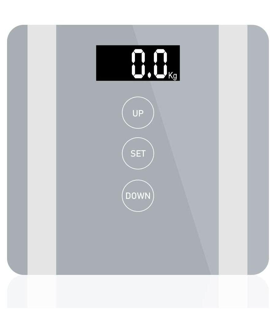 Image for 7 in 1 Apple Colour Body Fat Analyser Scale Silver