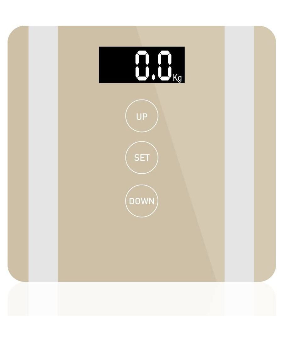 Image for 7 in 1 Apple Colour Body Fat Analyser Scale Gold