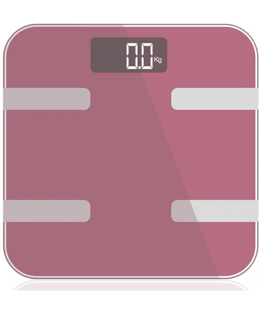 Image for 9 in 1 Digital Bathroom Scale - Rose Gold