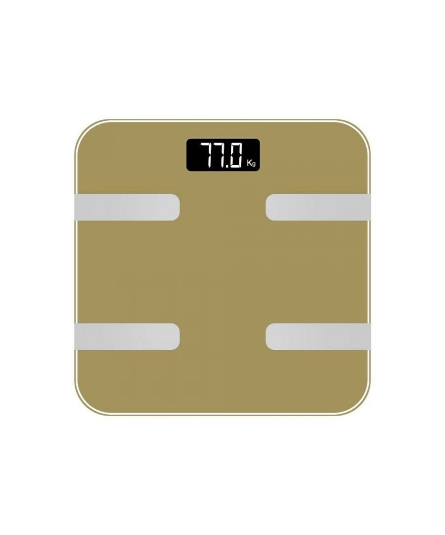 Image for AQ 9 in 1 Digital Bathroom Weighing Scales Gold