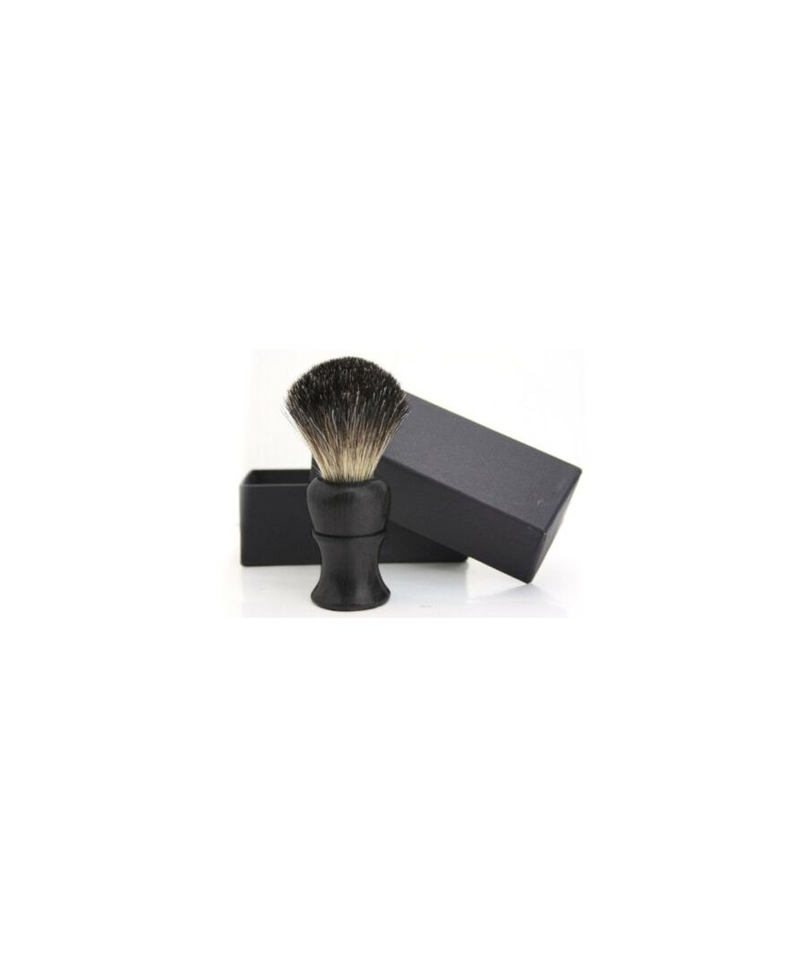 Image for Hair Shaving Brush in Ebony Handle Comes in Gift Box Excellent Quality - Black