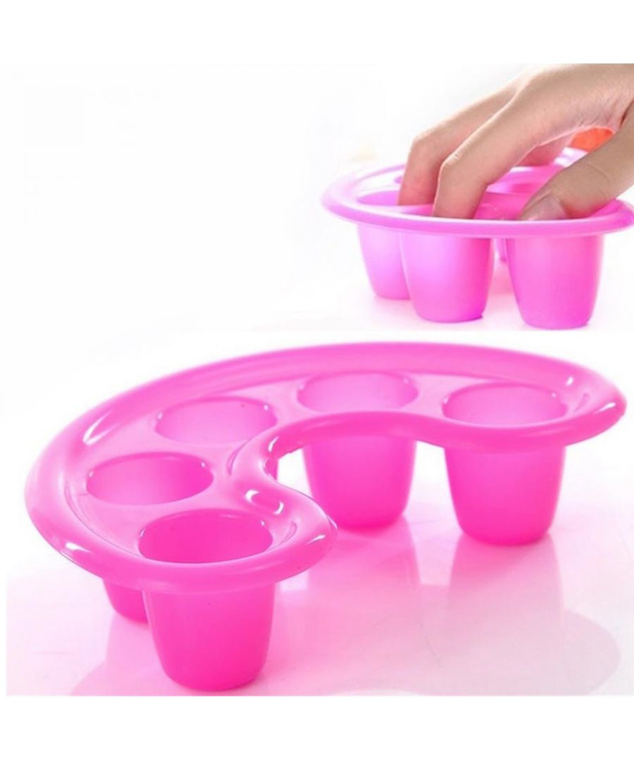 Image for Manicure Bowl Soak Finger Acrylic Tip Nail Soaker Treatment Remover Tool Kit - Pink