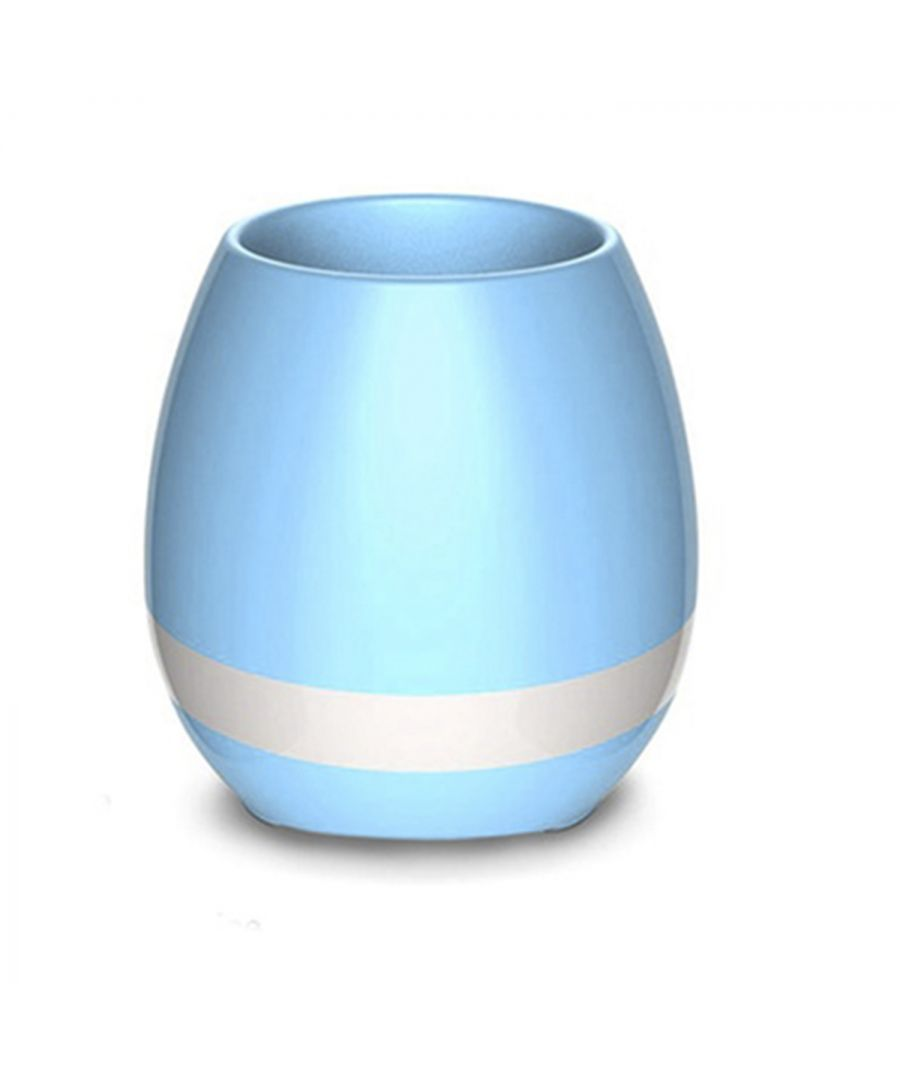 Image for Debonair Music Flower Pot Speaker Blue
