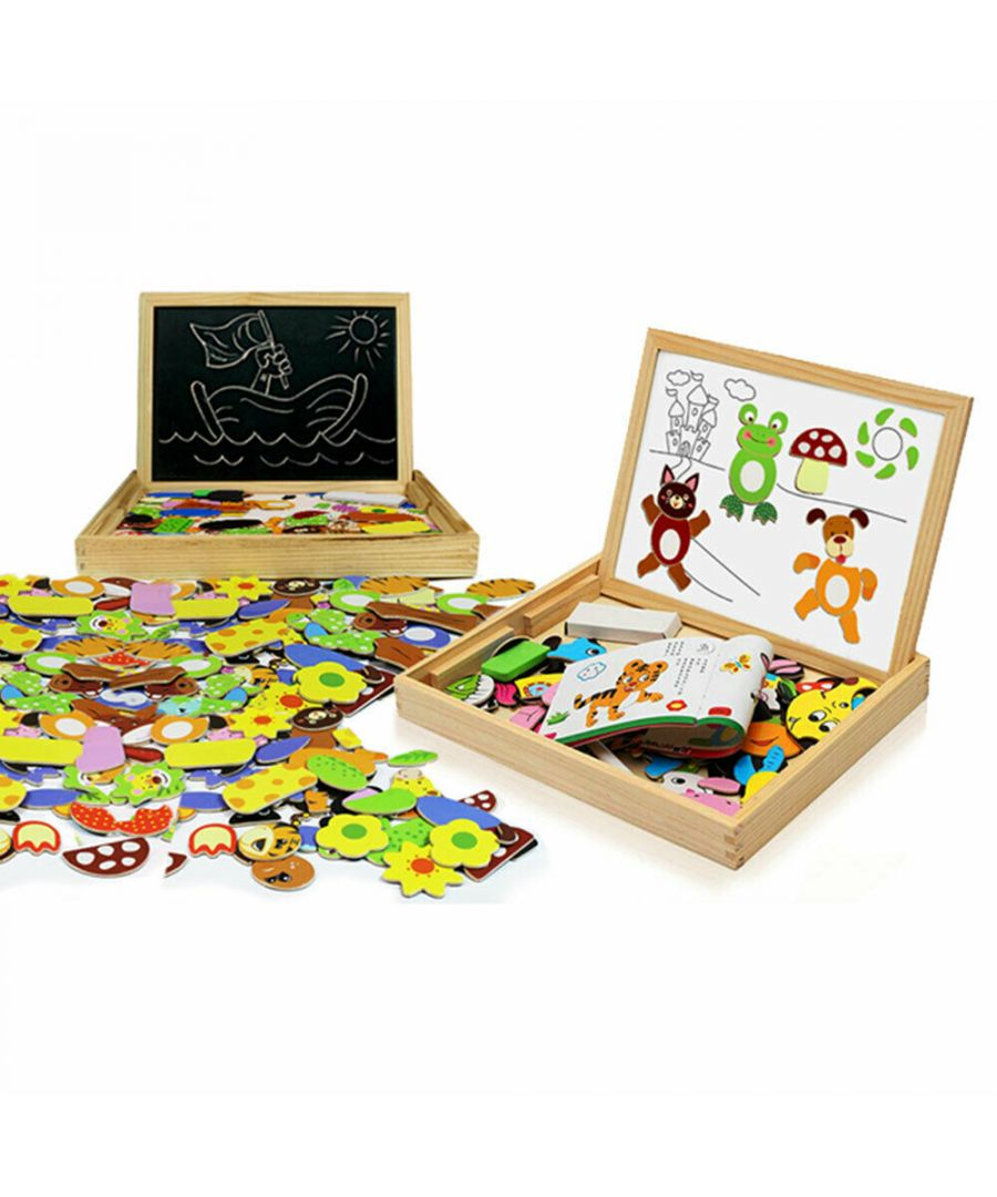 Image for Doodle Children's Wooden Multifunctional Puzzle Magnetic Board With Eraser