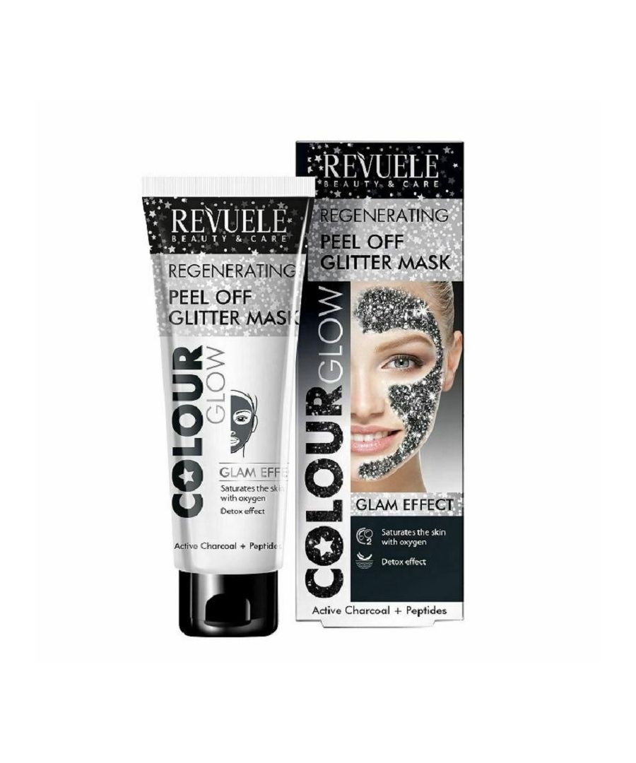 Image for Revuele Regenerating Black Glitter Peel Off Mask - Pack of 2