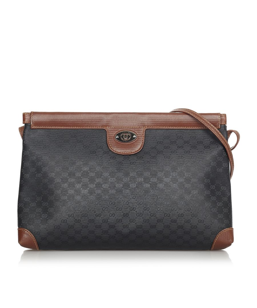 Image for Vintage Gucci Micro GG Crossbody Bag Black
