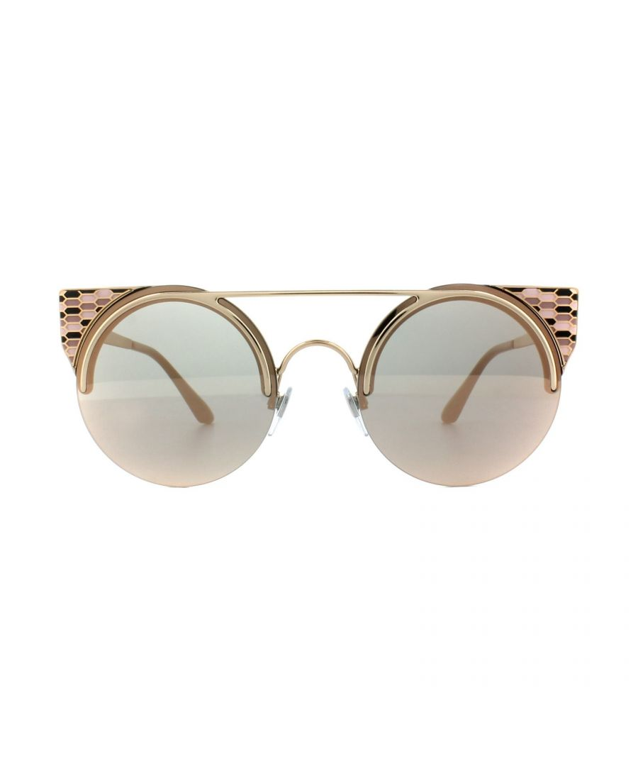 Image for Bvlgari Sunglasses BV6088 2014/4Z Pink Gold Rose Gold Mirror