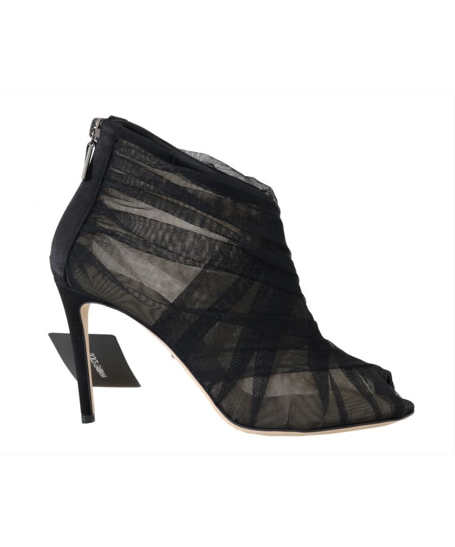 Image for Dolce & Gabbana Black Peep Toes Stilettos Booties