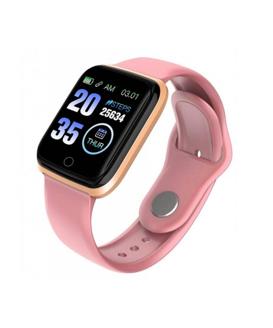 Image for LKS Unisex M6 Bluetooth Smart Watch, Pink