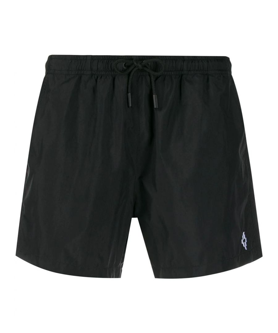 Image for MARCELO BURLON MEN'S CMFA003R20FAB0011001 BLACK POLYAMIDE TRUNKS