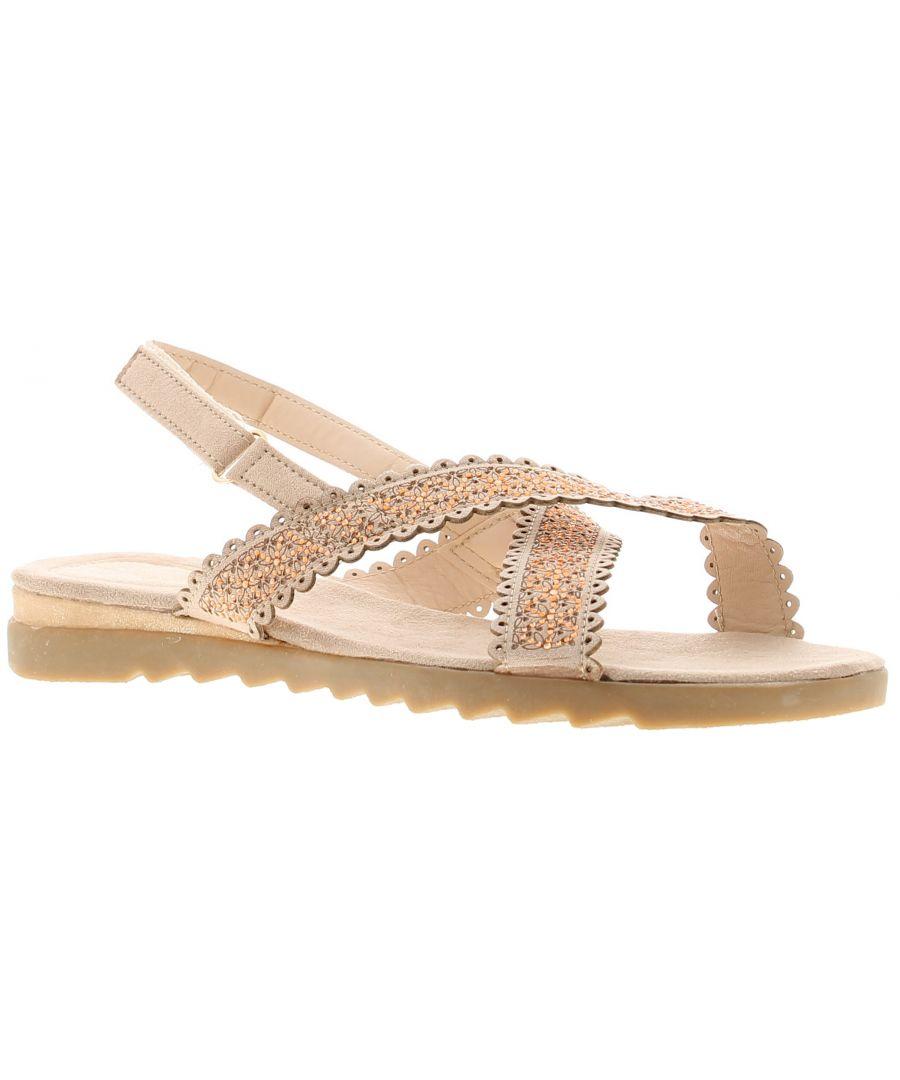 Image for Dr Keller julia con Womens Flat Sandals gold