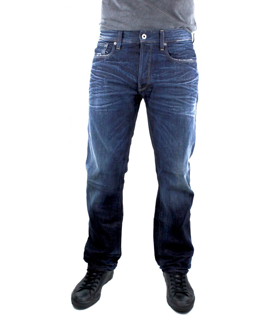 Image for G-Star 3301 Loose DK Aged Swash Denim Jeans