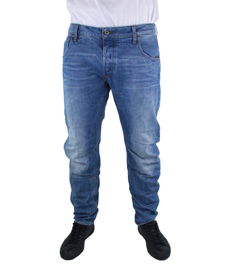 Image for G-Star Arc 3D Slim Medium Aged Hardon Stretch Denim Jeans