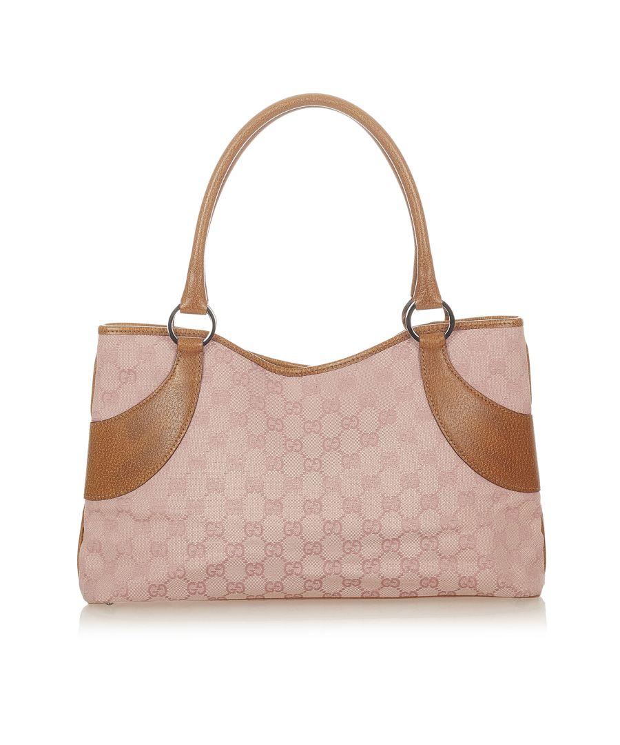 Image for Vintage Gucci GG Canvas Handbag Pink